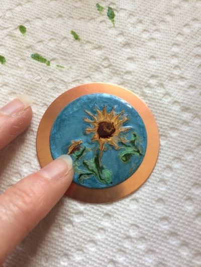 How to Create a Fun Sunflower Enamel Looking Necklace Step 8