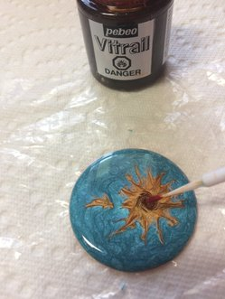 How to Create a Fun Sunflower Enamel Looking Necklace Step 4