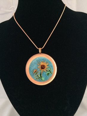 How to Create a Fun Sunflower Enamel Looking Necklace by My Art You Wear Jewelry
