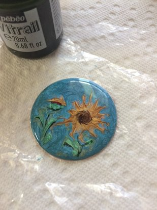 How to Create a Fun Sunflower Enamel Looking Necklace Step 7